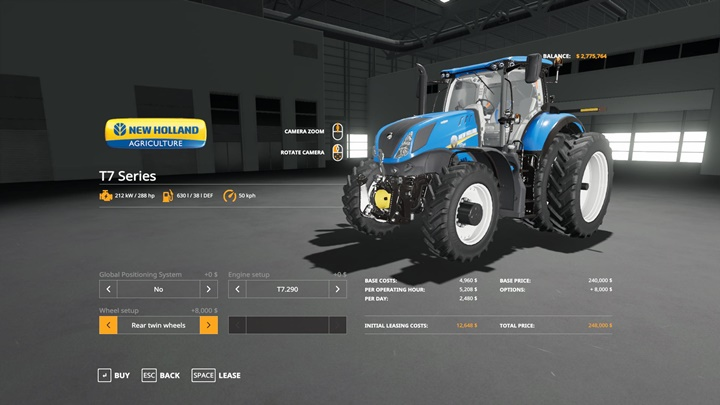 Photo of FS19 – New Holland T7 Tractor V1