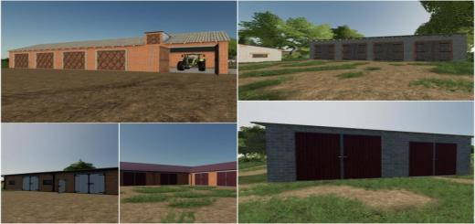 Photo of FS19 – Placeable Garage Pack V1