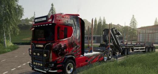 Photo of FS19 – Scania Woodtruck And Trailer V1.1