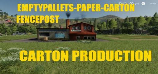 Photo of FS19 – Carton Production V1.0.7