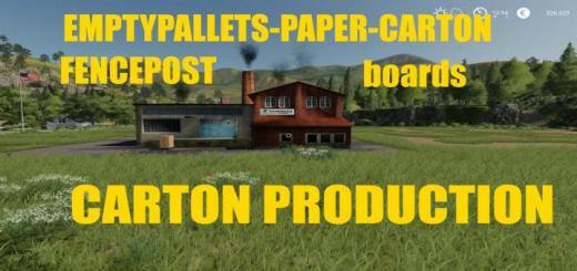 Photo of FS19 – Carton Production V1.0.8