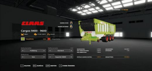 Photo of FS19 – Claas Cargos 9600 Trailer V1