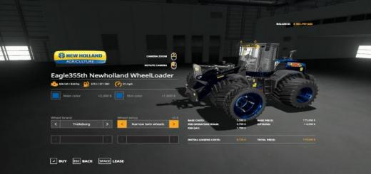 Photo of FS19 – Eagle355Th New Holland Wheelloader V1