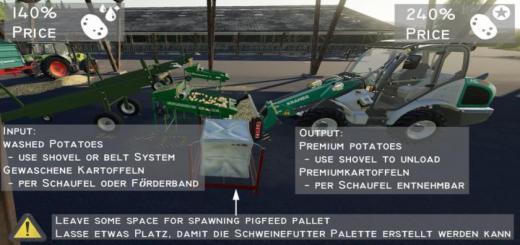 Photo of FS19 – Globalcompany – Potatosorter V1