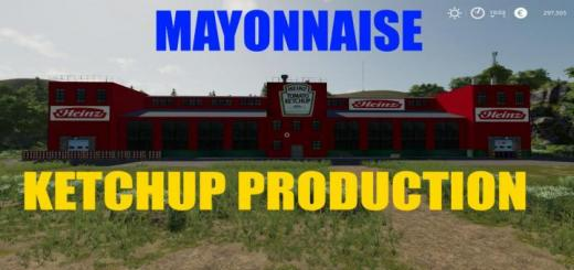 Photo of FS19 – Ketchup Mayonnaise Production V1.0.5