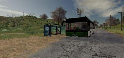 Photo of FS19 – Man Lions City Bus With Stop V1