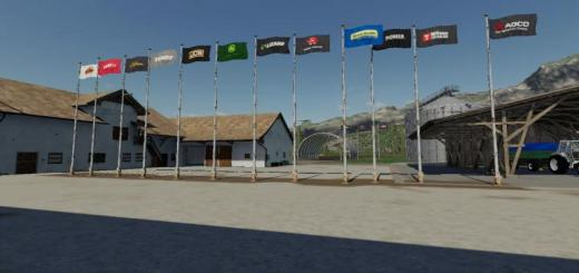 Photo of FS19 – Placeable Flags V1