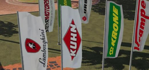 Photo of FS19 – Placeable Multi Brand Flags V1