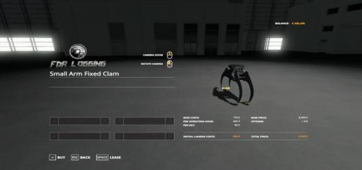 Photo of FS19 – Small Arm Fixed Clam V1