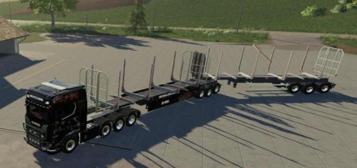 Photo of FS19 – Wood Trailer Roadtrain V1.1
