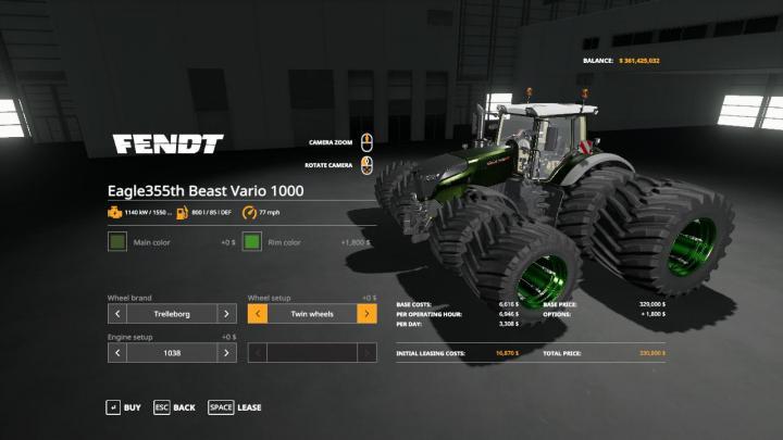 FS19 - Beast Vario 1000 V1