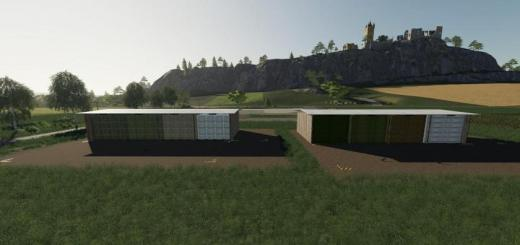 Photo of FS19 – Big Bale Storage Pack V1