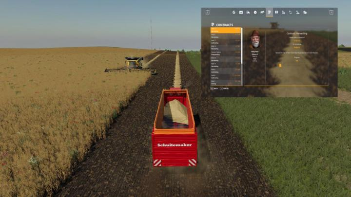 FS19 - Collect Straw At Missions V1