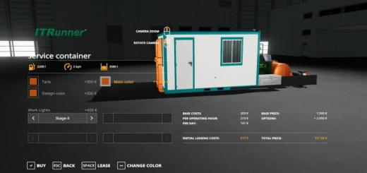 Photo of FS19 – Hooklift Service Container V1.2
