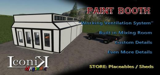 Photo of FS19 – Iconik Paint Booth V1
