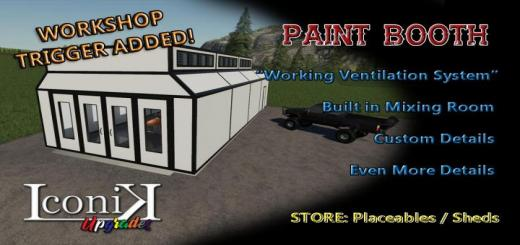 Photo of FS19 – Iconik Paint Booth V2