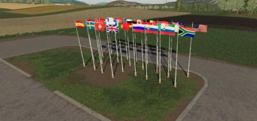 Photo of FS19 – International Flags V1