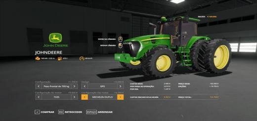 Photo of FS19 – John Deere 7J Tractor V1