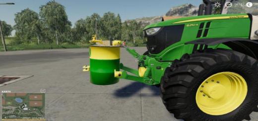 Photo of FS19 – John Deere Barrel Weight 750Kg V1