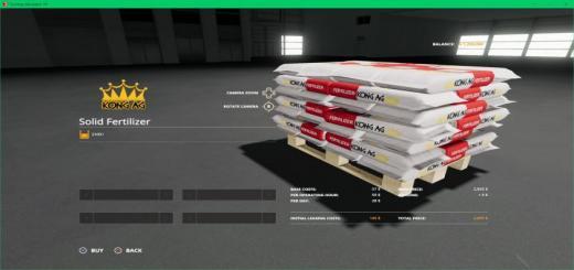 Photo of FS19 – Kong Ag Fertilizer Pallet V1.0.0.2