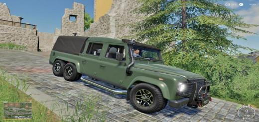 Photo of FS19 – Landrover Defender 110 6X6 V1