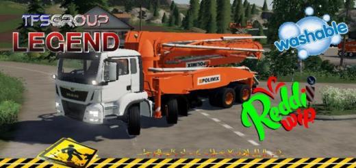 Photo of FS19 – Man Concrete Pump Truck V1.5