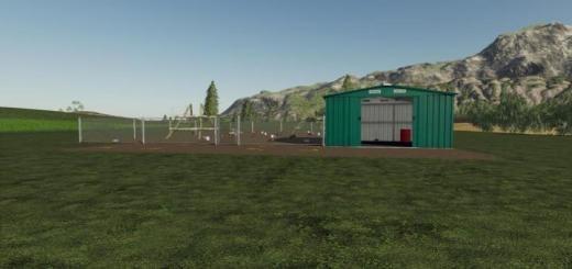 Photo of FS19 – Metal Fence Chicken Stable V1