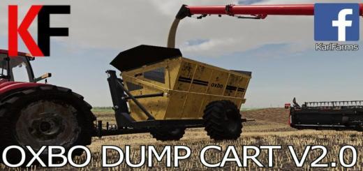 Photo of FS19 – Oxbo High Tip Dump Cart V2