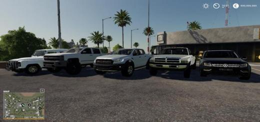 Photo of FS19 – Pickup Trucks Pack