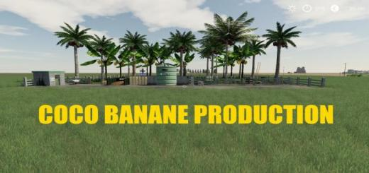 Photo of FS19 – Placeable Coco Banane Production V1