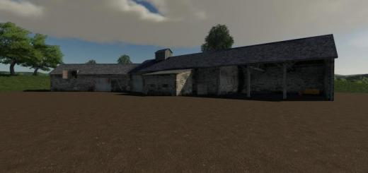 Photo of FS19 – Placeable Old Stone Barn V1.1