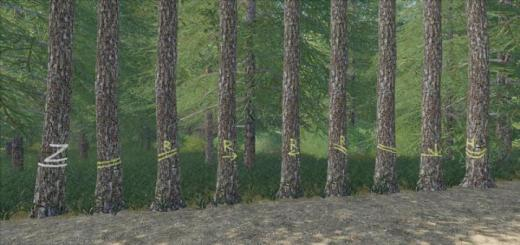 Photo of FS19 – Placeable Skidtrail Trees V1