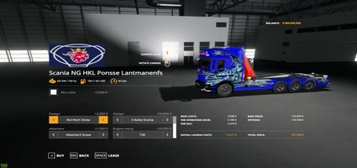 Photo of FS19 – Scania Ng  Hkl And Crane V1