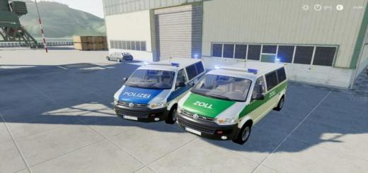 Photo of FS19 – Volkswagen T5 Police And Customs V1