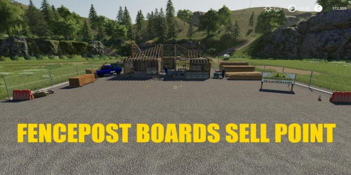 FS19 - Fencepost And Boards Sell Point V1