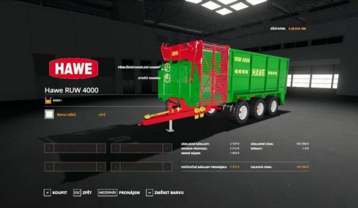 FS19 - Hawe Ruw 4000 Trailer V1