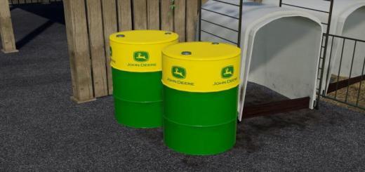 Photo of FS19 – John Deere Oil Drum (Prefab) V1