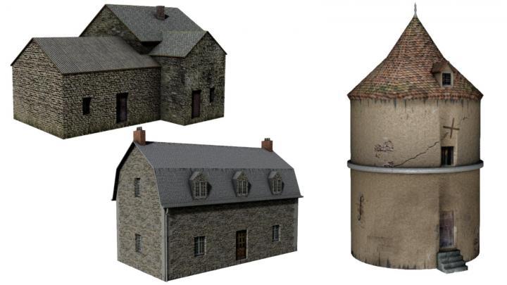 FS19 - Maison Et Pigeonnier (3D Mapping) V1