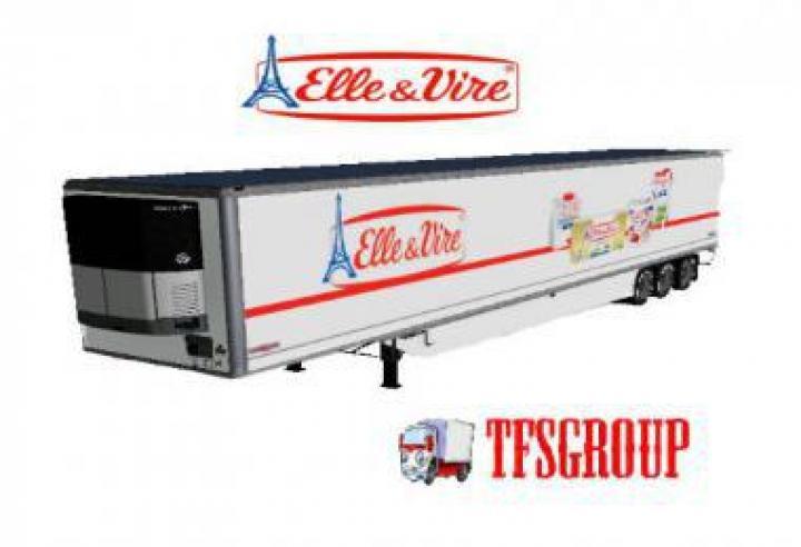 FS19 - Refrigerated Industrial Trailer Elle Et Vire V1.5