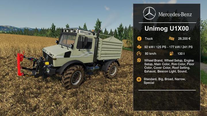 FS19 - Unimog U1200, U1400, U1600 V1