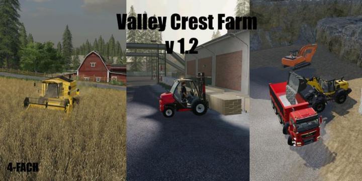 FS19 - Valley Crest Farm 4X Map V1.2