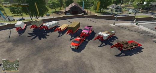 Photo of FS19 – 2014 Pickup With Semi-Trailer And Autoload V2