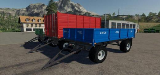 Photo of FS19 – 2Pts-6 Trailer V1.0.0.2
