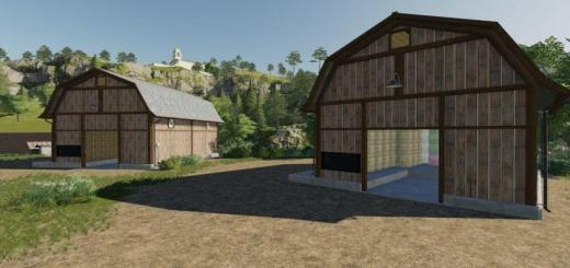 Photo of FS19 – Bale Storage Barns V1.0.1.0