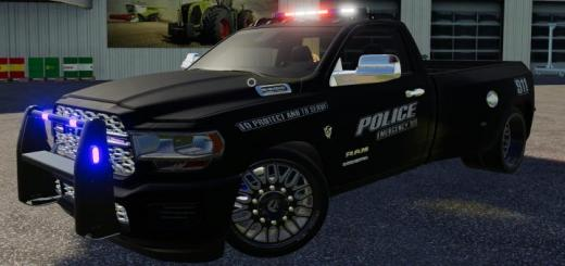 Photo of FS19 – Dodge Hell Truck Police Edition V1