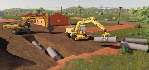 Photo of FS19 – Dynamic Concrete Pipes Pack V1