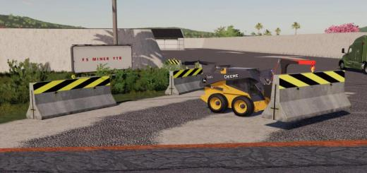 Photo of FS19 – Dynamic Concrete Road Barrier With Attacher V1