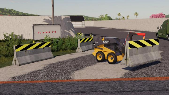 FS19 - Dynamic Concrete Road Barrier With Attacher V1