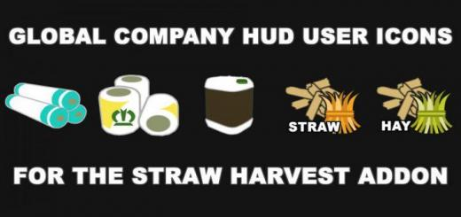 Photo of FS19 – Global Company Hud Icons For The Straw Harvest Addon V1