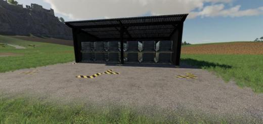 Photo of FS19 – Globalcompany – Pallet Storage Straw Harvest Addon V1